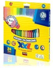 Kredki ołówkowe hexagonalne 24 kolory ASTRA