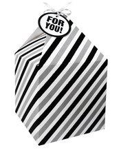 Pudełko na prezenty 11x11 biało-czarne pasy 4szt