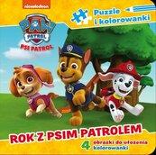 Psi Patrol Puzzle i kolorowanki Rok z Psim Patrolem