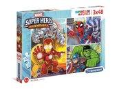 Puzzle 3x48 Super Kolor Superhero