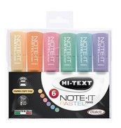Zakreślacz pastelowy Note-It 6 kol HI-TEXT