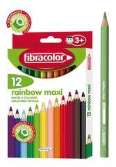 Kredki Rainbow Maxi 12 kolorów FIBRACOLOR