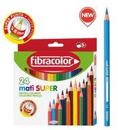 Kredki Mati Super 24 kolory FIBRACOLOR