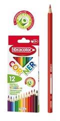 Kredki Corner 12 kolorów FIBRACOLOR