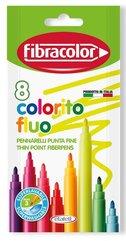 Pisaki Colorito Fluo 8 kolorów FIBRACOLOR