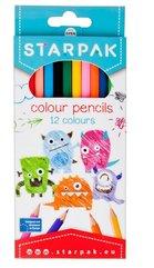 Kredki ołówkowe 12 kolorów Potworki