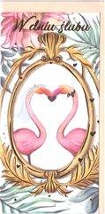Karnet B6 Ślub - Flamingi DL