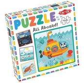 Moje pierwsze puzzle: Wszyscy na pokład! 4x6el.