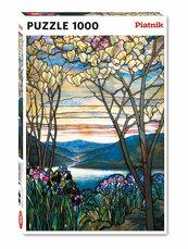 Puzzle 1000 Tiffany Magnolie i Irysy