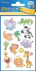 Naklejki papierowe błyszczące - Safari