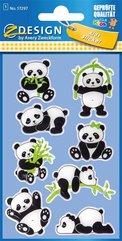 Naklejki błyszczące - Pandy