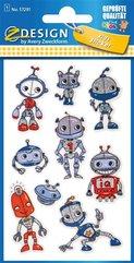 Naklejki brokatowe - Roboty