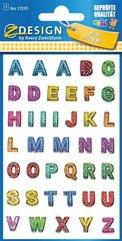 Naklejki brokatowe - Alfabet