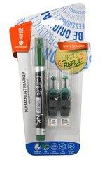 Marker permanentny + 2 ampułki zielony MemoBe
