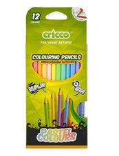 Kredki trójkątne pastelowe 12 kolorów CRICCO