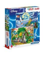 Puzzle 2x60 Supercolor Peter Pan The Jungle Book
