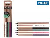 Kredki sześciokątne 6 kolorów MILAN