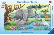 Puzzle 15 Afrykańskie zwierzęta