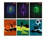 Zeszyt A5/32K linia podwójna Games & Sport (10szt)