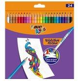 Kredki ołówkowe Kids Evolution Illusion 24 kol BIC
