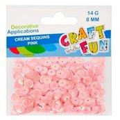 Cekiny kremowe 8mm różowy