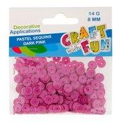 Cekiny pastelowe 8mm ciemny różowy