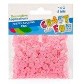 Cekiny pastelowe 8mm różowy