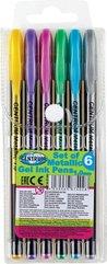 Zestaw długopisów żelowych Metaliczne 6 kol 87402