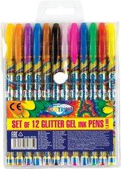 Zestaw długopisów żelowych Brokat 12 kol 80785