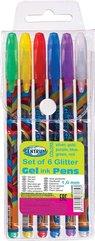Zestaw długopisów żelowych Brokat 6 kolorów 83885