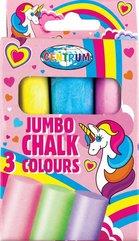 Kreda kolorowa Jumbo Unicorn 3szt 80390