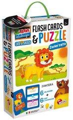Zabawa i edukacja puzzle dziecięce i flashcards - Zwierzęta