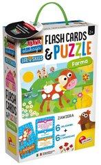 Zabawa i edukacja puzzle dziecięce i flashcards - Farma