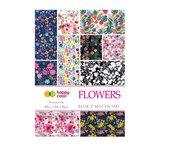Blok z motywami Flowers A4/15K 80g HAPPY COLOR