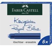 Naboje krótkie niebieskie 6szt FABER CASTELL