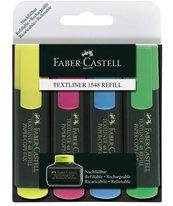 Zakreślacz 4 kolory FABER CASTELL
