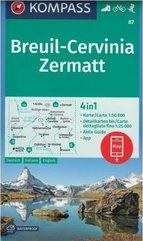 Breuil - Cervinia - Zermatt 1:50 000 Kompass