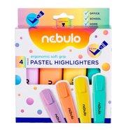 Zakreślacz pastelowy 4 kolory NEBULO