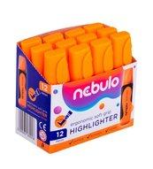 Zakreślacz pomarańczowy (12szt) NEBULO