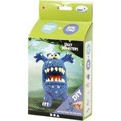 Zestaw Śmieszny Potworek niebieski