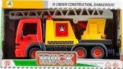 Auto ciężarowe z ruchomymi elementami