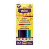 Kredki ołówkowe dwukolorowe 24 kolory STRIGO
