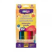 Kredki ołówkowe akwarelowe 12 kolorów STRIGO