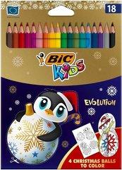Kredki ołówkowe KIDS Evolution Christmas18 kolorów