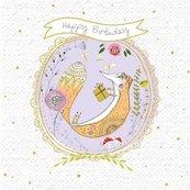 Karnet kwadrat z kopertą Urodziny Lis