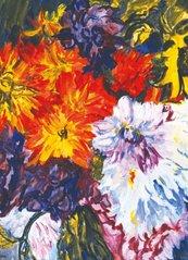 Karnet 17x14cm z kopertą Dahlias and Sunflower