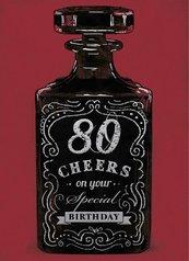 Karnet B6 z kopertą Urodziny 80