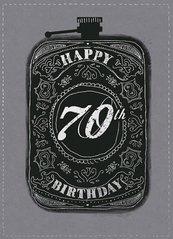 Karnet B6 z kopertą Urodziny 70