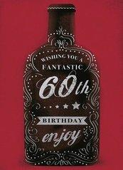 Karnet B6 z kopertą Urodziny 60