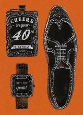 Karnet B6 z kopertą Urodziny 40